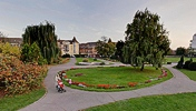 Botanic park, Timisoara, 5 m high pole pano