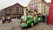 The little train in Victory Square, Timisoara